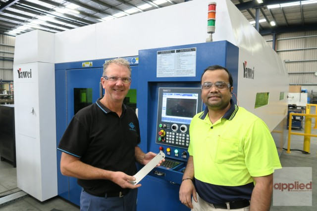Yawei HLE-1530 Fiber Laser at Ace Wire Works