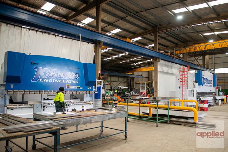 Two new Yawei CNC pressbrakes in JC Butko's Wodonga facility.
