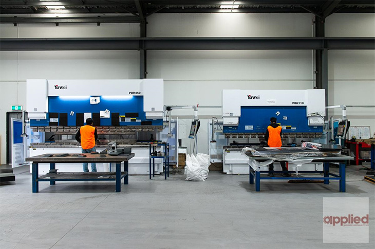 CNC turret punching, laser cutting, pressbrake bending and welding
